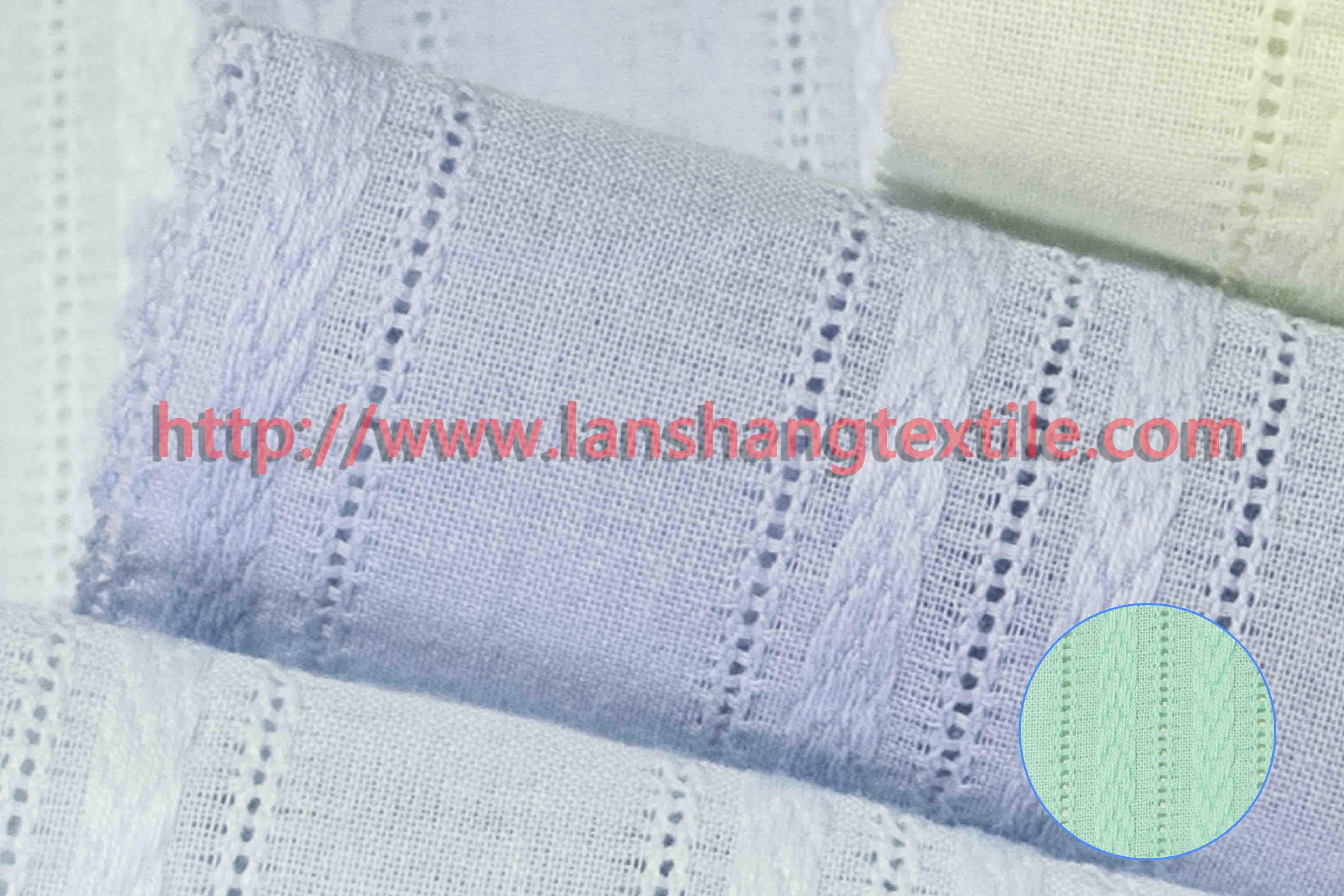 Dyed Jacquard Cotton Fabric for Woman Dress Shirt Garment Home Textile