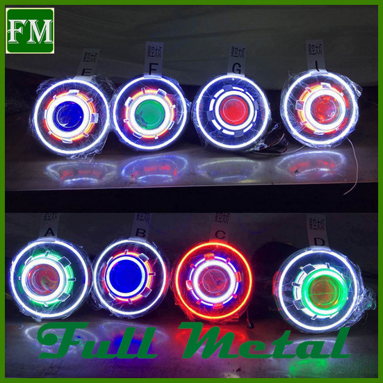 Colorized LED Halogen Angel Eyes Head Lights 40W with CREE LED Chip