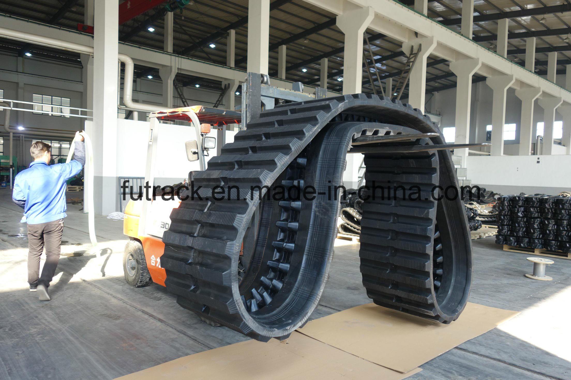 Excavator Tracks Rubber Tracks for Komatsu CD110r) 800*150ym