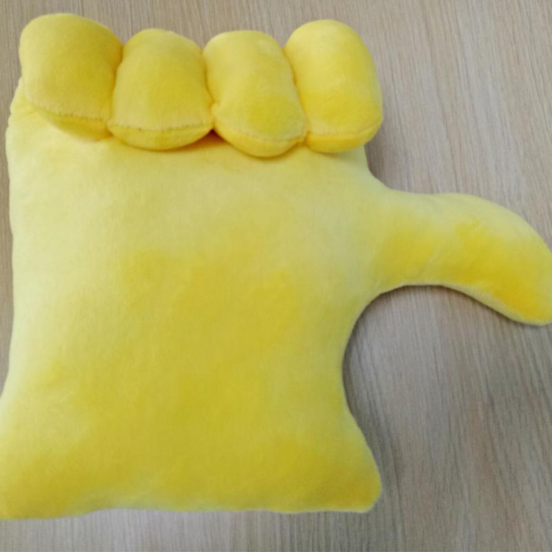 New Design Unique Whatsapp Hand Shaped Emoji Pillow