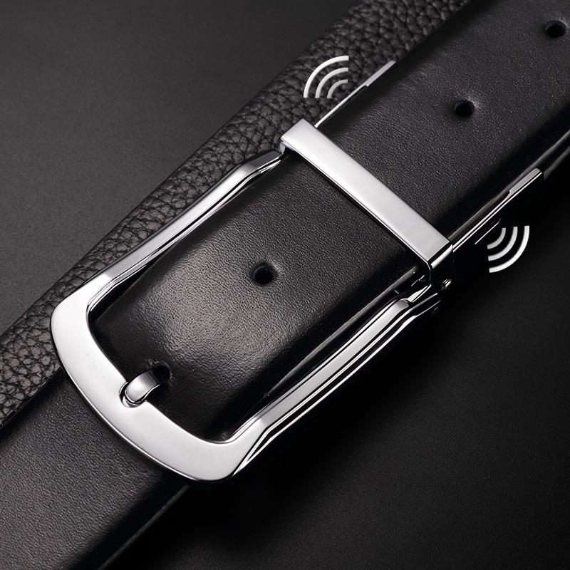 Men Smart Leather Belt Pin Buckle Phone Anti Lost Alarm