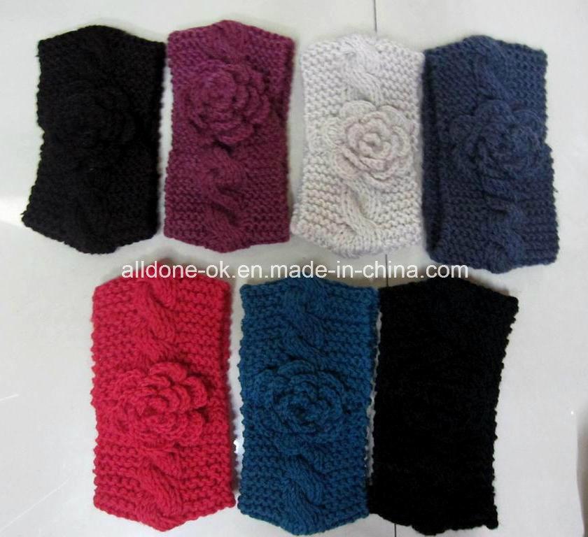 Custom Fashion New Design Hand Knitted Ladies Headband Neckwarmer Turban