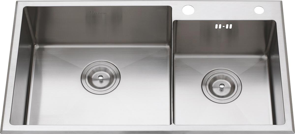 S2106 304# S. S Double Bowl Handmade Sink
