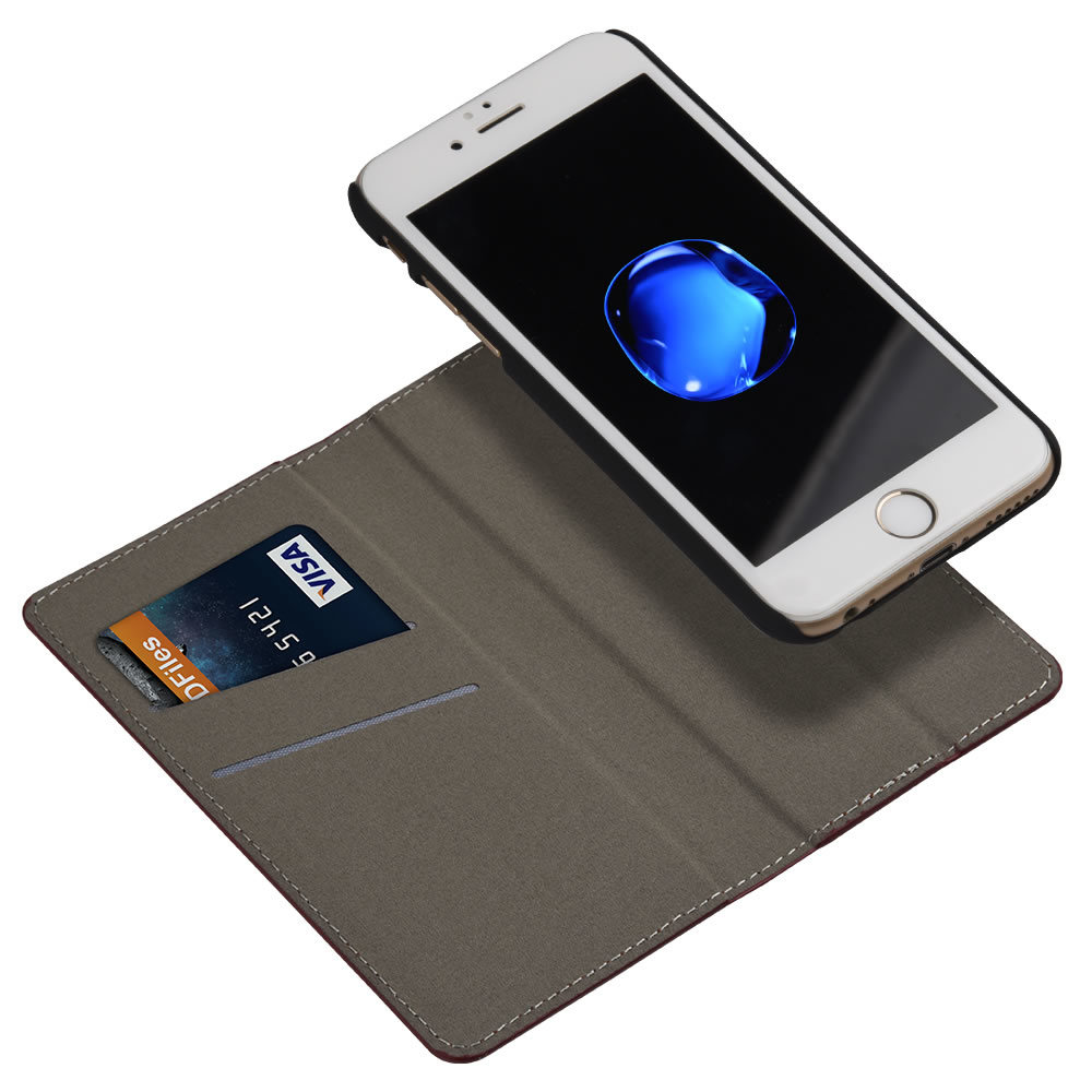 Detachable PU Leather Wallet Folio Flip Card Holder Slot Protective Shell Magnetic Slim Back Cover Case for iPhone 6s