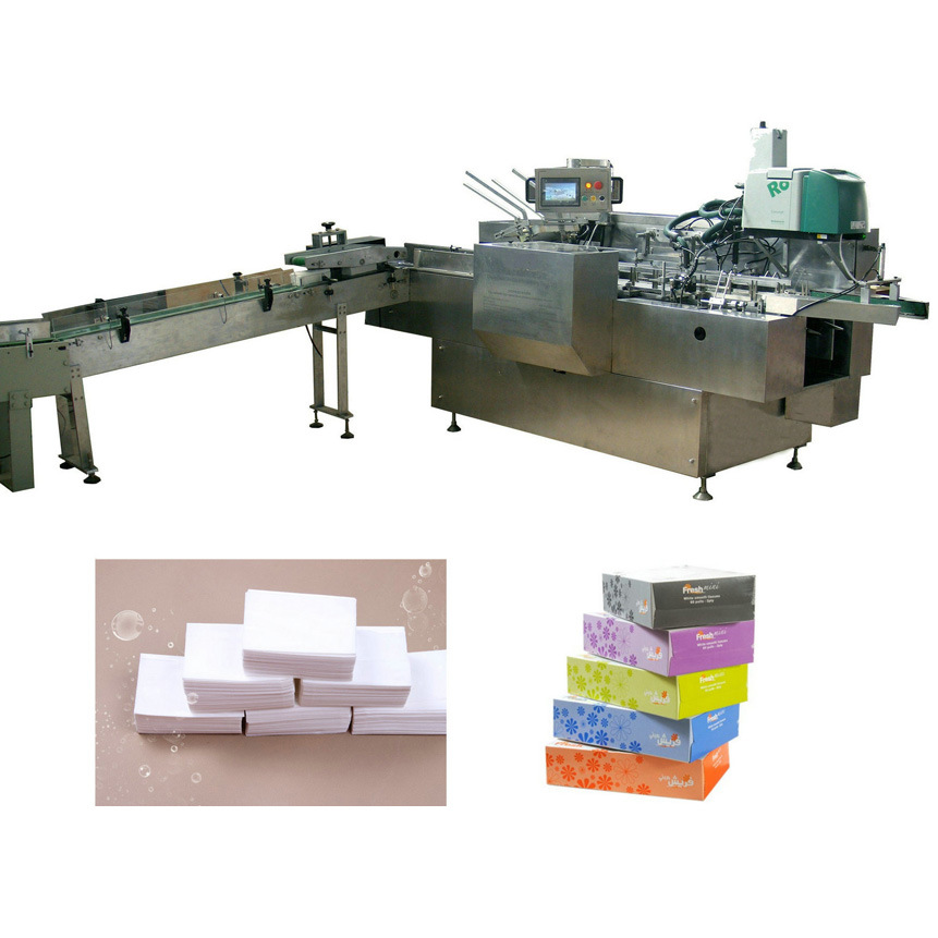 Box Drawing Facial Tissue Full Automatic Filling and Sealing Machine