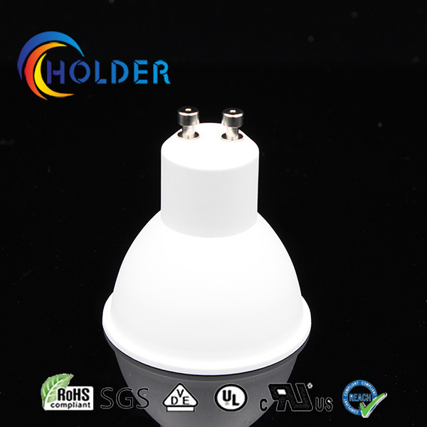 GU10 LED Shade Metallized Plastic Be Covered with Aluminum Insert