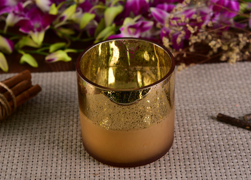 New Arrival Glass Candle Jar with Elegant Fresh Finish