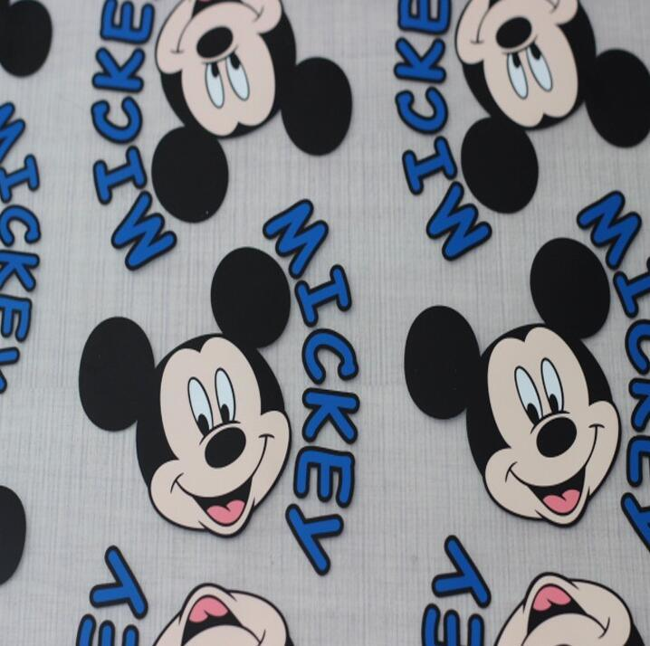 Custom Lovely Mickey Plastisol Heat Transfers Stickers for T Shirts