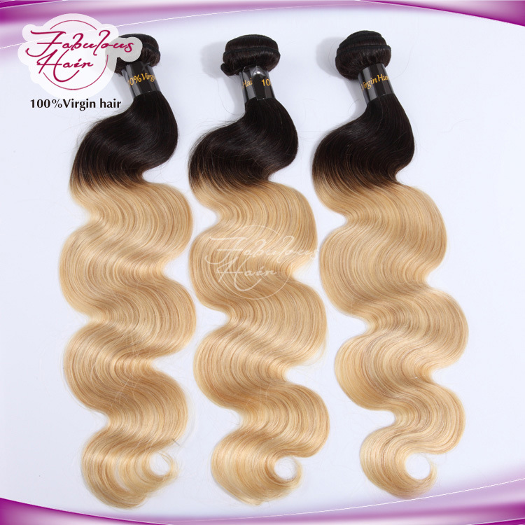 8A Ombre Blonde Human Remy Hair 613# Color Body Wave Hair