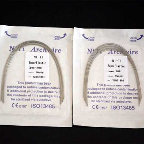 Dental Orthodontic Super Elastic Niti Round Arch Wire