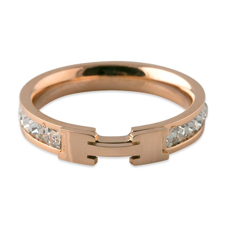 Women Jewelry Personalized Rose Gold Diamond Fashion Ring