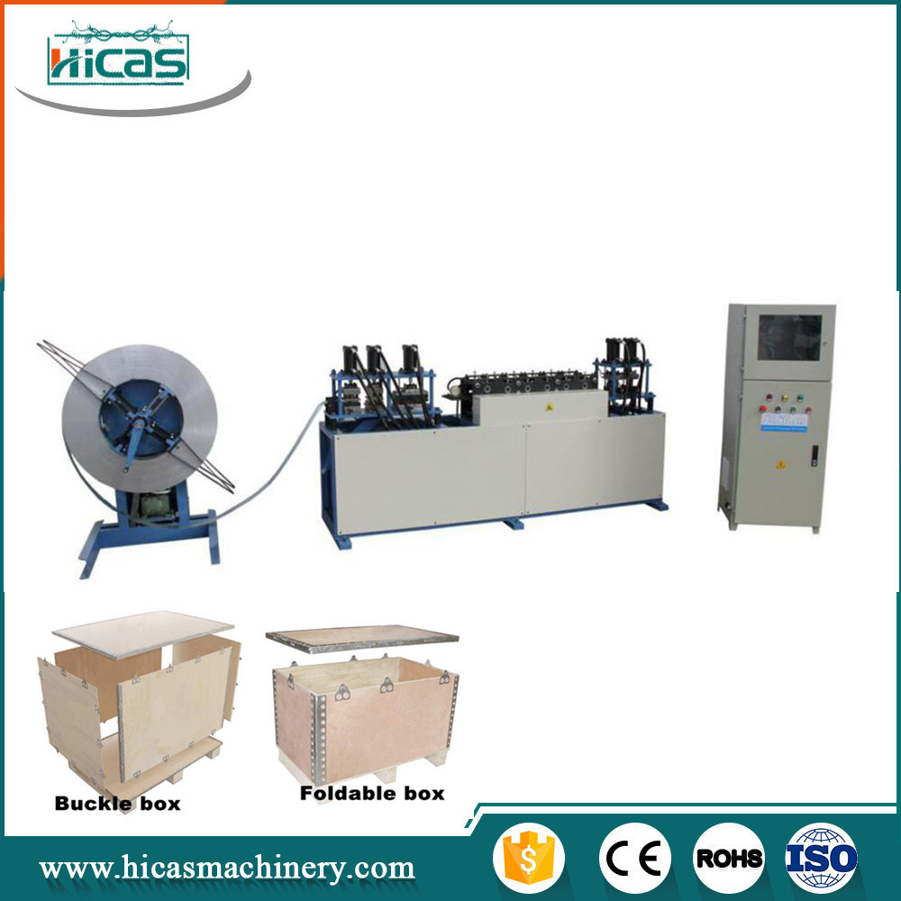 Steel Strip Machine for Nailless Foldable Plywood Box