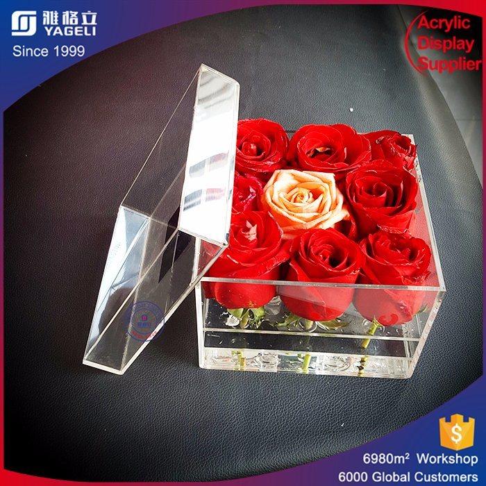 Crystal Clear Acrylic Flower Box