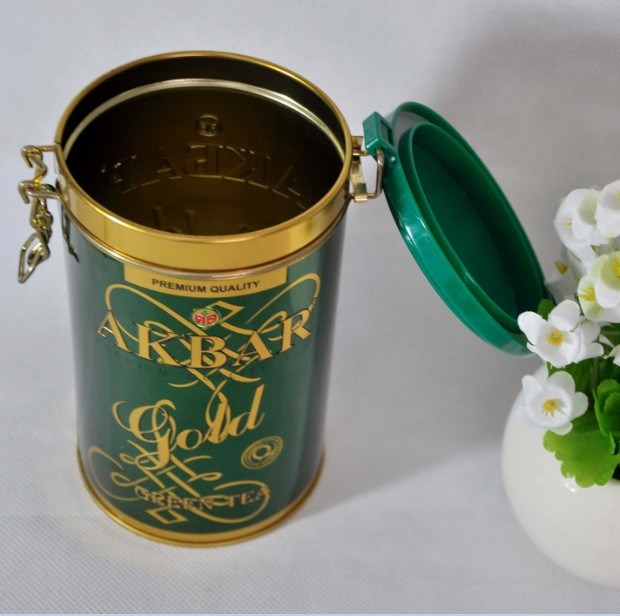 Wholesale Decorative Storage Metal Tin Can Tea Caddy