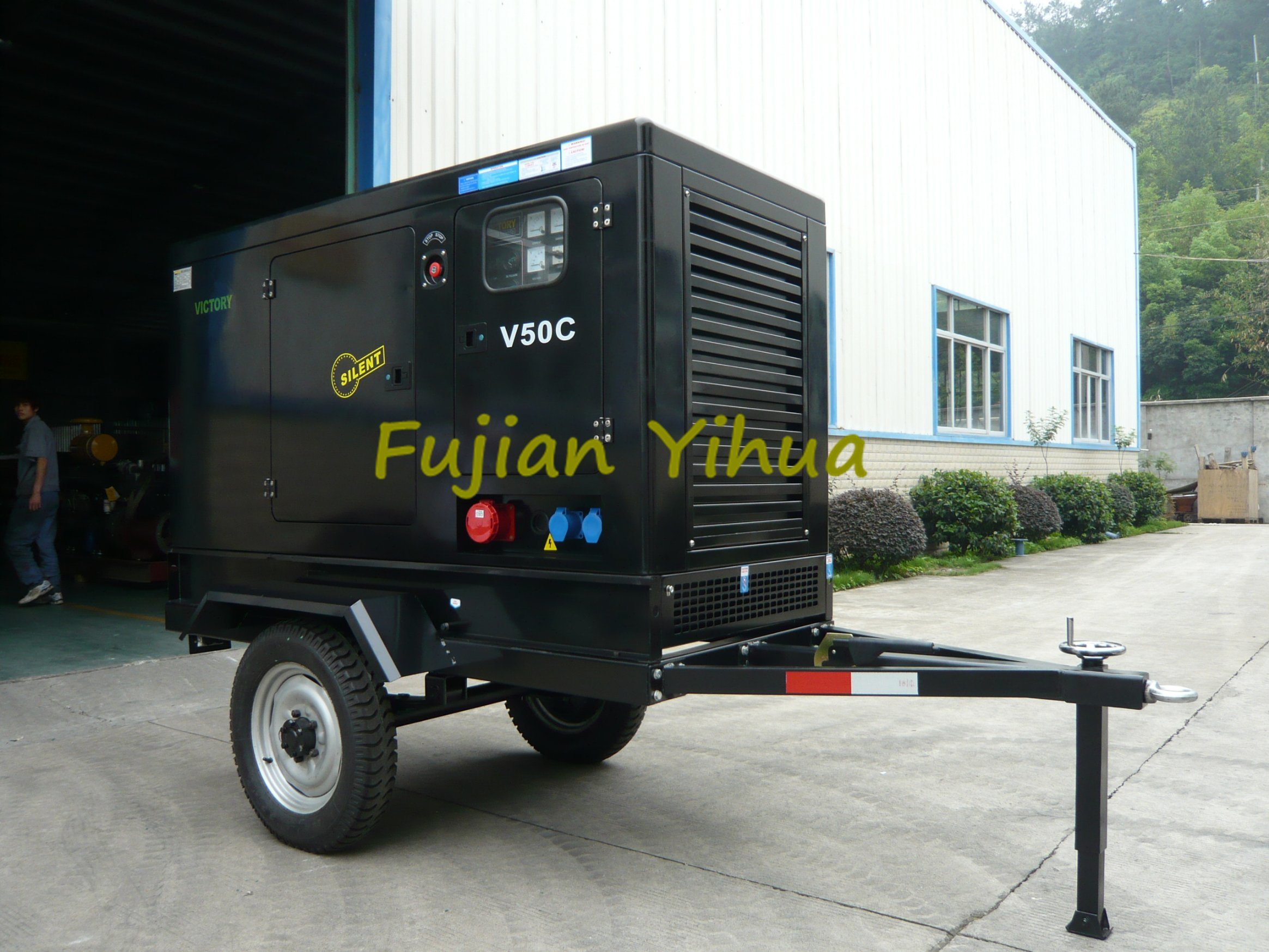 Trailer! Mounted with Trailer Cummins Diesel Generator!