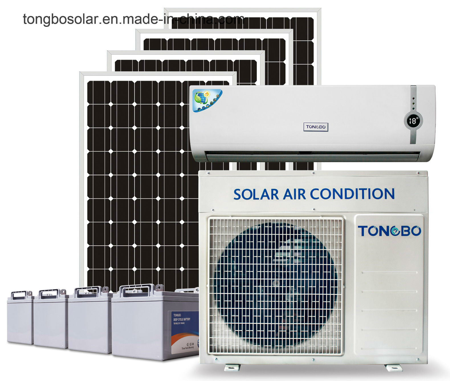 off Grid 100% DC72V Solar Power Air Conditioner 18000BTU