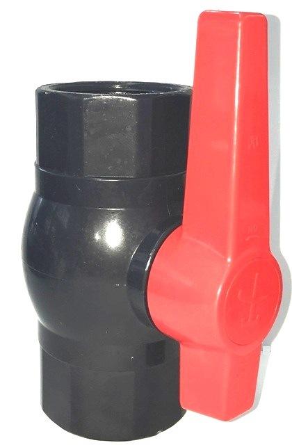 Black PVC Ball Valves T*T for Water Supply