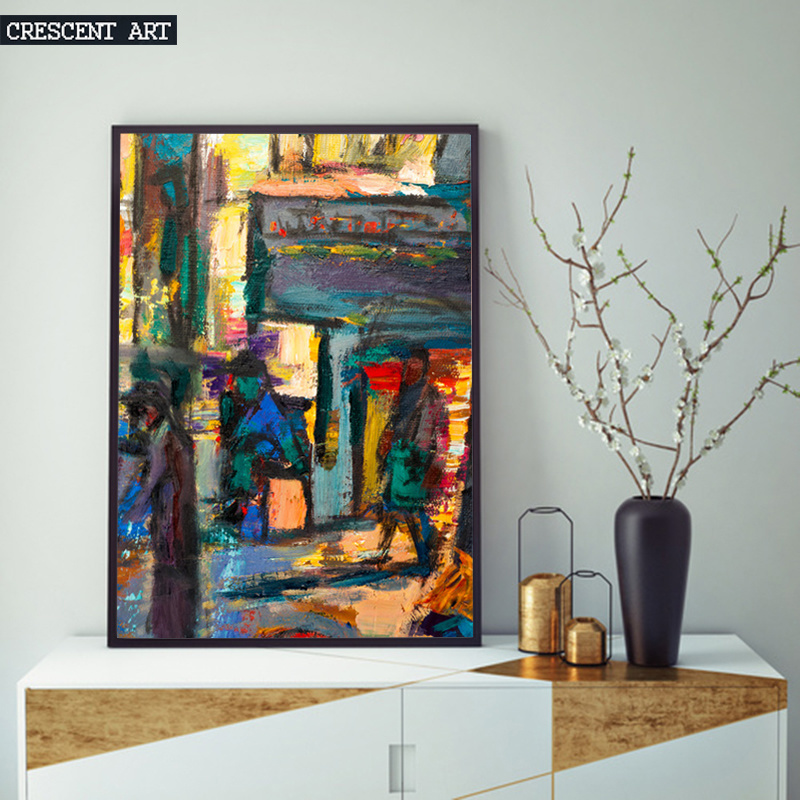 Impressionism Abstract Street Wall Art