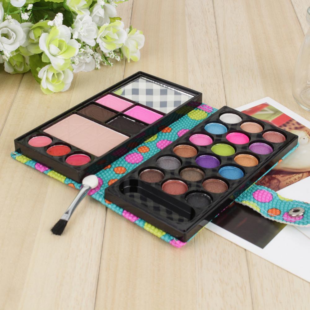 18 Colors Eye Shadows + 2 Blush + Pressed Powder + 3 Lip Frozen + 2 Eyebrow Professional Makeup Sets Es0325