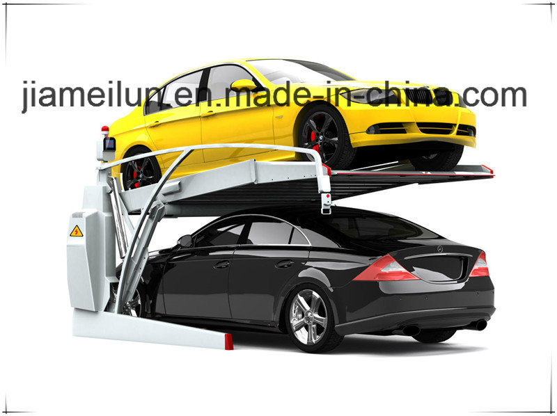 Two Post Automotive Storage Double Space Car Parking Equipment