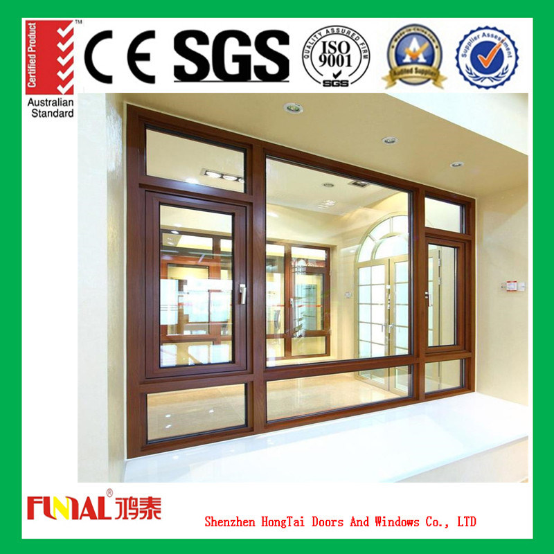 Aluminium Frame Casement Windows with Tempered Glass