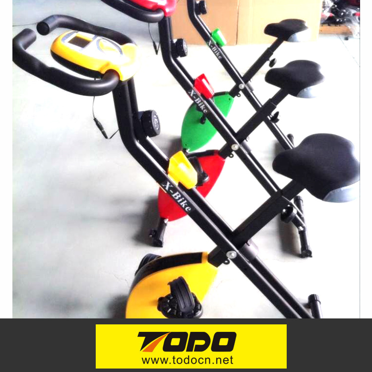 New Indoor Crane Sports Foldable Magnetic Exercise Bike with Twister