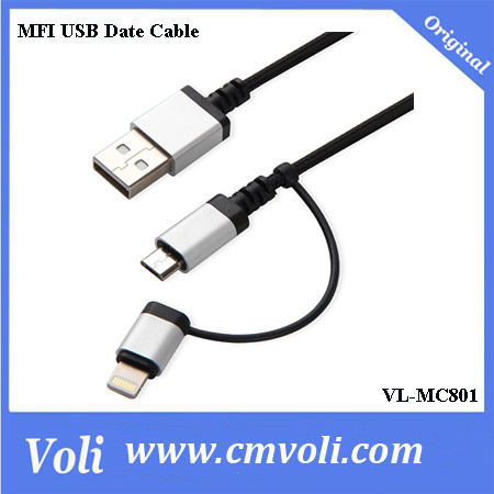 2016 New 2 In 1 USB Cable Compatible for IOS and Android System