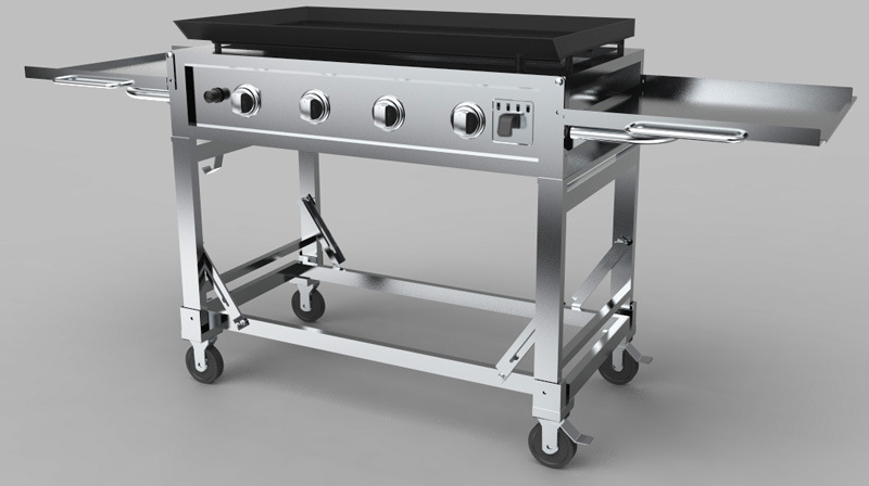 4burners Stainless Steel Griddle