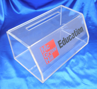 Customize Plexiglass Clear Acrylic Vote Donation Suggestion Box