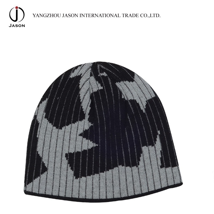 Winter Hat Jacquard Knitted Hat Jacquard Beanie Jacquard Toque Acrylic Knitted Hat