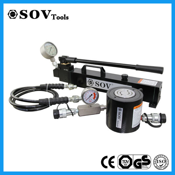 Hydraulic RAM Lifting Tools Single Acting 30 Ton Low Height Hydraulic RAM