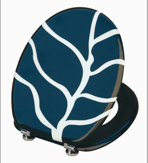 Printing Moulded Wood Toilet Seat (blue)