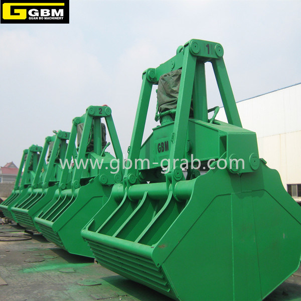 Gbm Electric Hydraulic Clamshell Grab Bucket Motor Hydraulic Grab