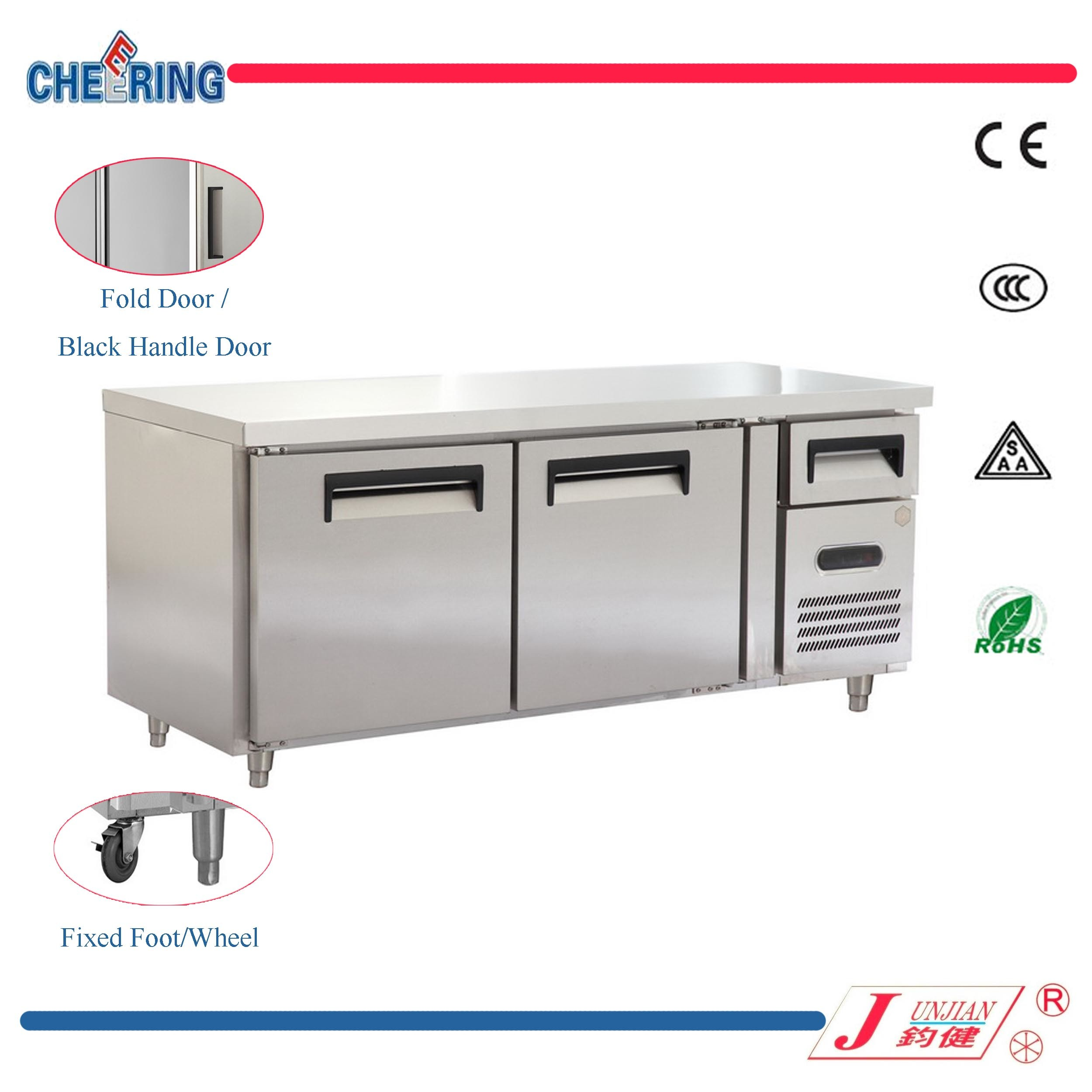 Commercial Stainless Steel Worktable Chest Freezer