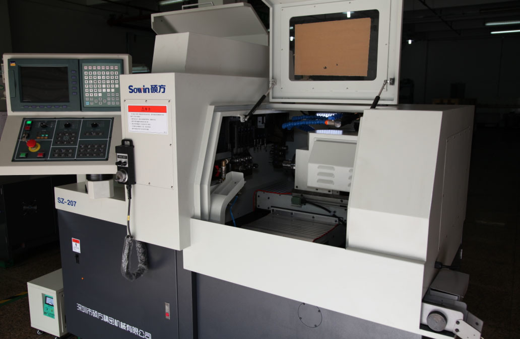 Swiss Type CNC Automatic Lathe with Dual Spindles