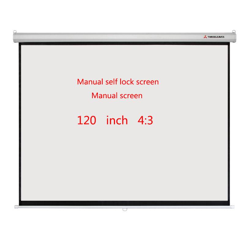 Manual Self-Locking Screen 120 Inch