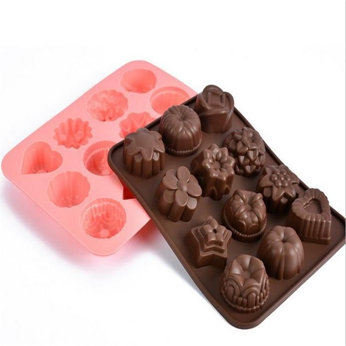 Flower Shape Silicone Cake Mold Cookie Moulds Chocolate Fondant Molds