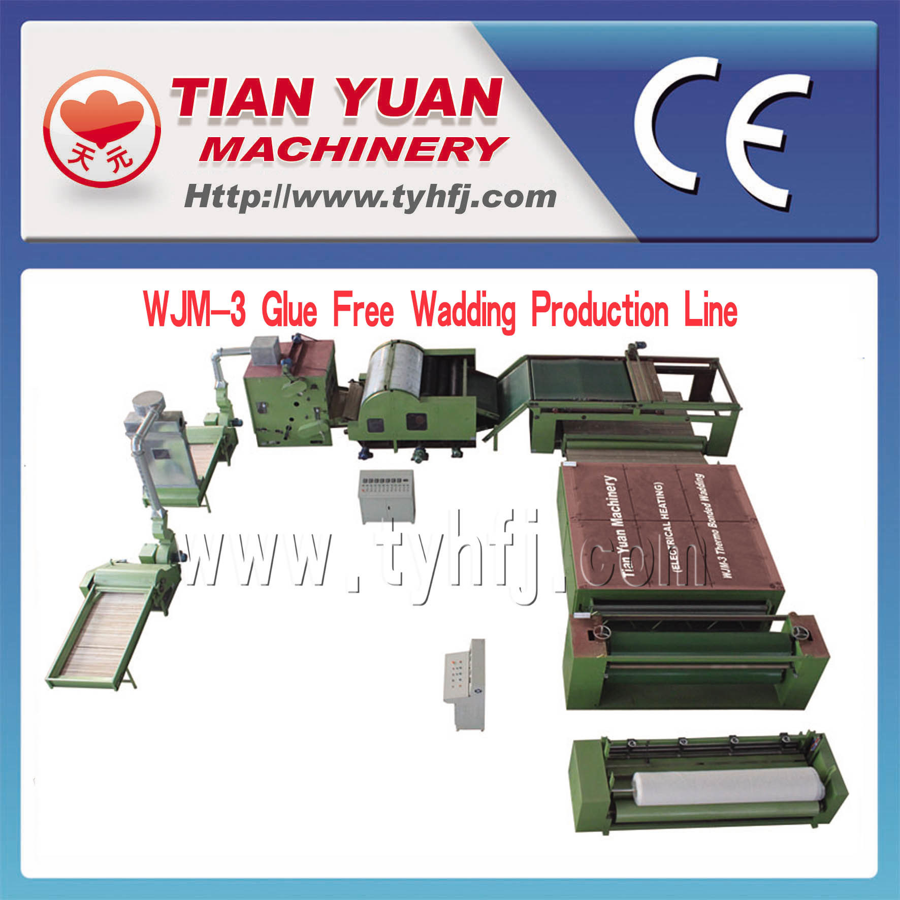 Nonwoven Thermo Bonded Wadding Production Line
