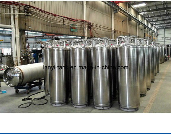 Good Quality Cryogenic LNG Liquid Oxygen Nitrogen Argon Insulation Dewar Cylinder