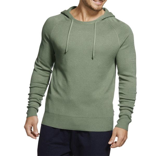 New Arrivel Fashion Plain Light Green Pullover Men Hoodie (ZS-6040)