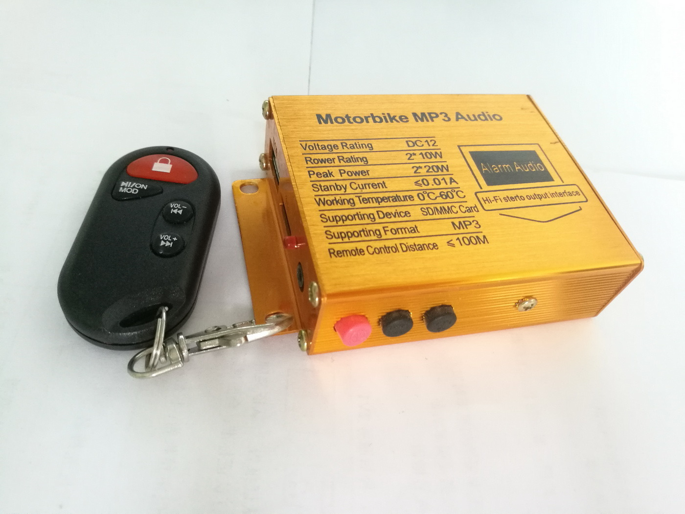 Motorcycle MP3 Audio with Push Button
