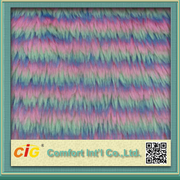 Good Quality Colorful Long Pile Faux Fur Fabric