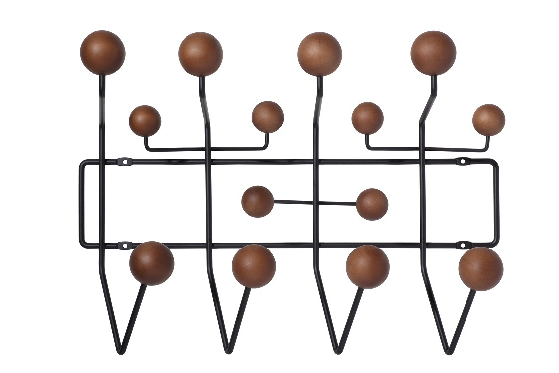 Eames Hang It All Wall Iron Wood Ball Hooks