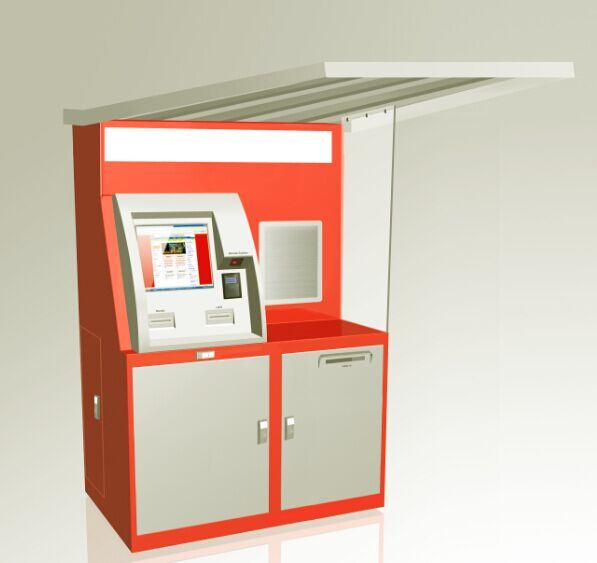 Self-Service Touch Screen Parcel Delivering Kiosk