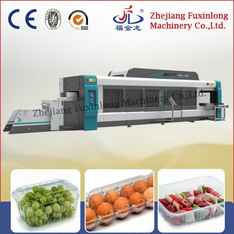 Fsct770570 Fully Automatic Plastic Egg Tray Thermoforming Machine