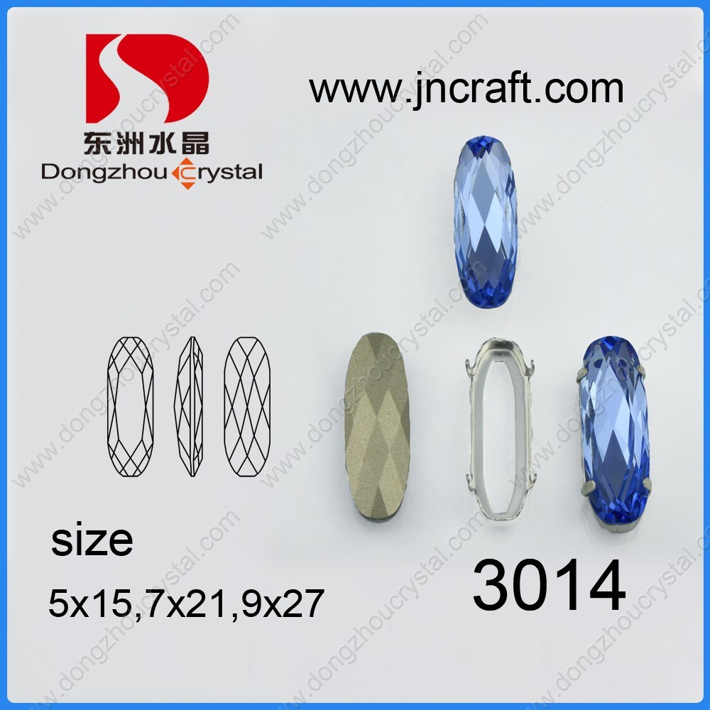 Crystal Oval Glass Fancy Loose Stone Jewelry Finding Beads (DZ-3014)