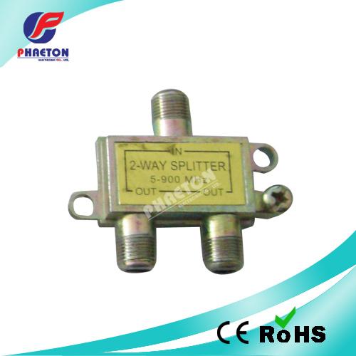 2 Way TV Splitter CATV Splitter Satellite Splitter 5~900MHz