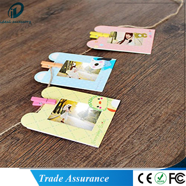 10PCS/Set Cartoon Pattern 3inch Paper Photo Film Decor Hanging Frame