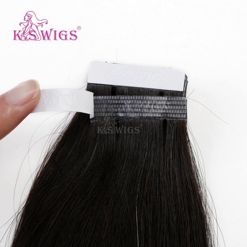 K. S Wigs Factory Wholesale Price Tape Hair 100% Brazilian Human Hair