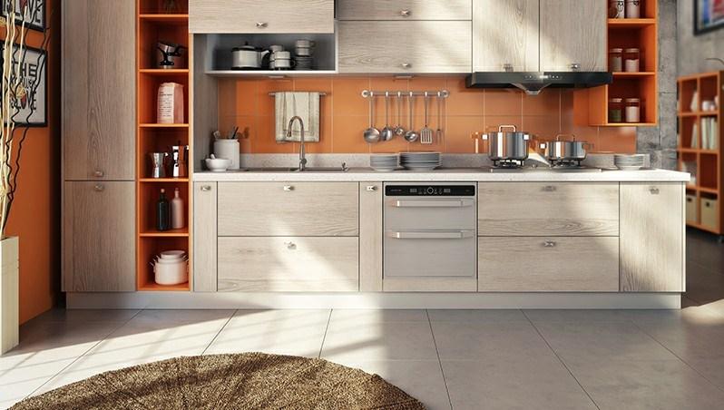Classical Walnut Kitchen Cupboard Cabinets